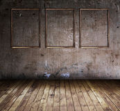 Zaal met drie frames Royalty-vrije Stock Afbeeldingen