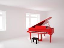 Zaal met een grote piano Royalty-vrije Stock Foto's