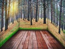 Zaal met een houten vloer Royalty-vrije Stock Fotografie