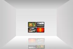 Zaal met een TV-Paneel stock fotografie