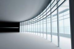 Zaal met glasvensters vector illustratie