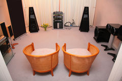 Zaal met hallo-eind audiosysteem Royalty-vrije Stock Foto's