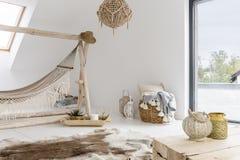 Zaal met hangmat royalty-vrije stock foto's