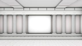 Zaal met kolommen Stock Foto
