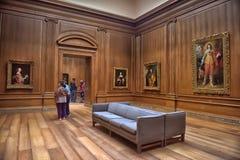 Zaal met kunstwerken, beeldhouwwerk, Nationale kunstgalerie Washington stock afbeeldingen