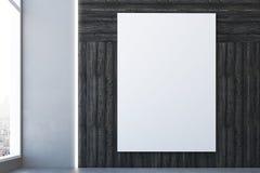 Zaal met lege affiche Stock Foto's