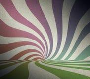 Zaal met retro zonstralen Royalty-vrije Stock Fotografie