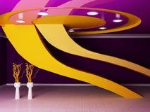 Zaal met vazen en interessant plafond Royalty-vrije Stock Fotografie