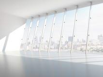 Zaal met vensters royalty-vrije illustratie