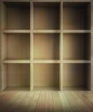 Zaal met vierkante planken Royalty-vrije Stock Fotografie