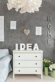 Zaal met witte opmaker stock afbeeldingen