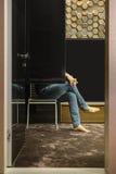Zaal in moderne stijl Stock Fotografie