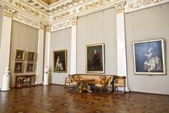 Zaal van de beroemde Russische kunstenaar van de 18de eeuw Levitskyi in het Russische Museum van de Staat Stock Foto's