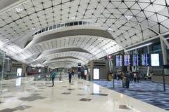 Zaal van de Internationale Luchthaven van Hongkong Stock Afbeelding