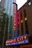 Zaal van de Muziek van de Stad van de Stad van New York de Radio Stock Foto