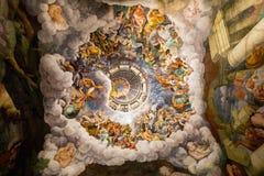 Zaal van de Reuzen in Palazzo Te in Mantua stock afbeelding
