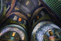 Zaal van het mausoleum van gallaplacidia in Ravenna Royalty-vrije Stock Afbeelding