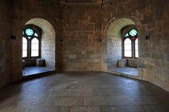 Zaal van het oude kasteel, Beja, Portugal stock foto's