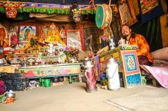 Zaal van kleuren in Nepal Royalty-vrije Stock Foto's