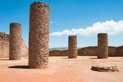 Zaal van Kolommen, La Quemada, Zacatecas (Mexico) royalty-vrije stock foto's