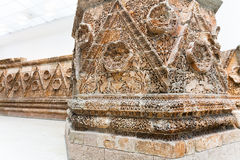 Zaal van Mshatta-Voorgevel in Pergamon-museum, Berlijn stock foto's