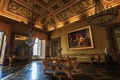 Zaal van Oud Reggia-Di Caserta in Italië stock afbeeldingen