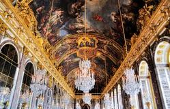 Zaal van Spiegels, Versailles Stock Foto's
