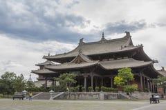 Zaal van Universele Helderheid binnen het Huayan-Klooster royalty-vrije stock fotografie