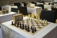 Zaal voor de schaakconcurrentie Royalty-vrije Stock Afbeeldingen