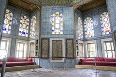 Zaal voor gasten en thee in het Topkapi-Paleis stock afbeeldingen