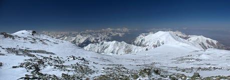 Zaalay range west to Lenin peak Royalty Free Stock Photo