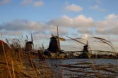 Zaandam architekture - młyny w Holandia Fotografia Royalty Free