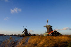 Zaandam architekture - mills in Holland Stock Image