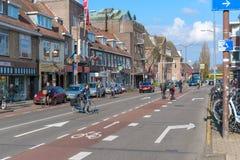 Zaandam, Nederland, 11 April, 2019: Huizen op het Oude-Toevluchtsoord in Zaandam worden gevestigd dat royalty-vrije stock foto's