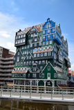 ZAANDAM, NETHERLANDS the design attracts guests by incorporating the traditional architecture of the Zaan region. Royalty Free Stock Photography