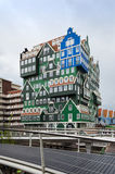 Zaandam, Netherlands - May 5, 2015: People visit Inntel Hotels in Zaandam, Netherlands. Stock Images