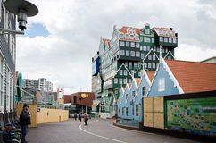 Zaandam, Netherlands - May 5, 2015: People walk on a pedestrian in Zaandam Stock Images