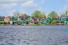 Zaandijk waterfront, Holland Royalty Free Stock Photo