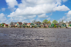 Zaandijk waterfront, Holland Royalty Free Stock Photos