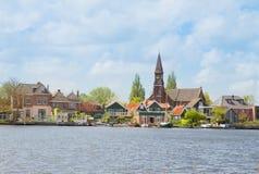 Zaandijk waterfront, Netherland Royalty Free Stock Photo