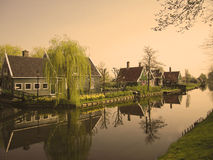 Zaansche schans windmill village in Holland Stock Image