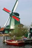 zaanse för windmills amsterdam för norr schans belägen Royaltyfri Fotografi