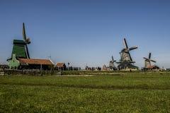 zaanse för windmills amsterdam för norr schans belägen Arkivfoton