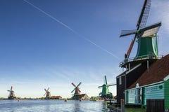 Zaanse Schans非常受欢迎的旅游胜地在荷兰 库存照片