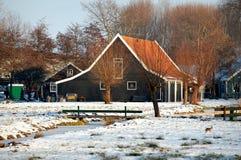 ZAANSE SCHANS, НИДЕРЛАНДЫ - загородный дом Стоковая Фотография RF