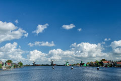Zaanse Schans -风车 图库摄影