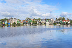 Zaanse Schans. Amazing Dutch village. Zaanse Schans. Picturesque view of a Dutch village located at the river royalty free stock photography