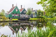 Zaanse Schans, Amsterdam, Nederländerna Arkivbilder