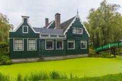 Zaanse Schans, Amsterdam, Nederländerna Arkivfoton