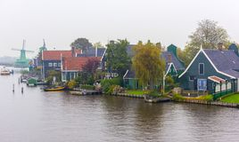 Zaanse Schans, Amsterdam, Nederländerna Arkivfoto